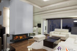 E60 3-Sided Electric Fireplace