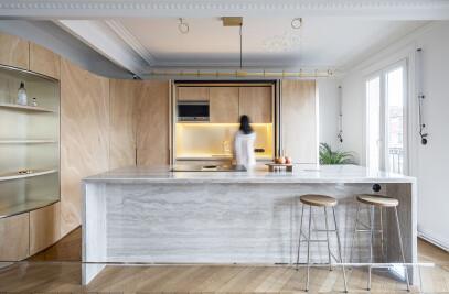 Wood Ribbon in Paris apartment