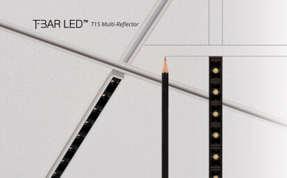 """T15 (9/16"""") T-BAR LED Multi-Reflector with black PC reflectors"""