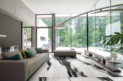 B&W_Marble - Floor Gres