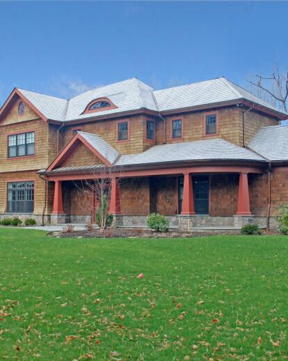 Custom shingle style home