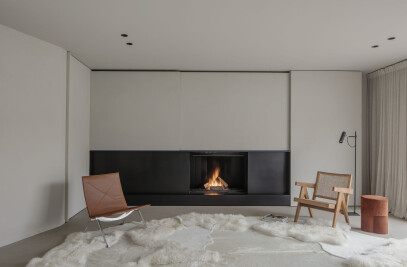 Ultime Dynamic combustion Wood Closed Fireplaces with  sliding door
