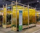 Polygal 10mm Yellow Twin Wall on display.