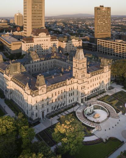 Reception pavilion of Québec's National Assembly
