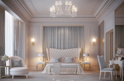 Timeless bedroom interior
