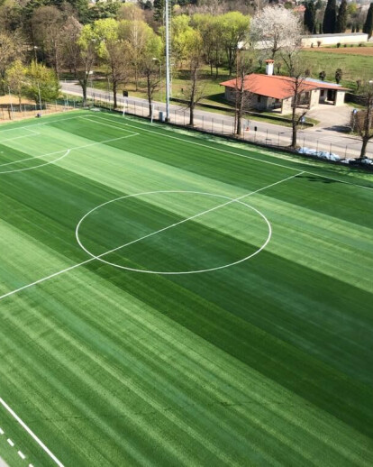 New synthetic football field