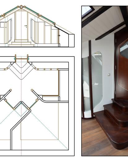 half-timbered attic