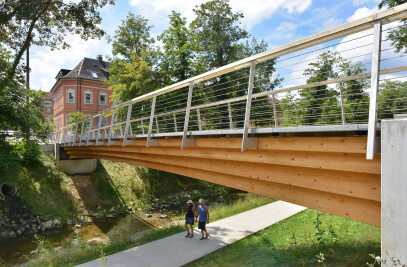 Timber-Granite Hybrid Bridge