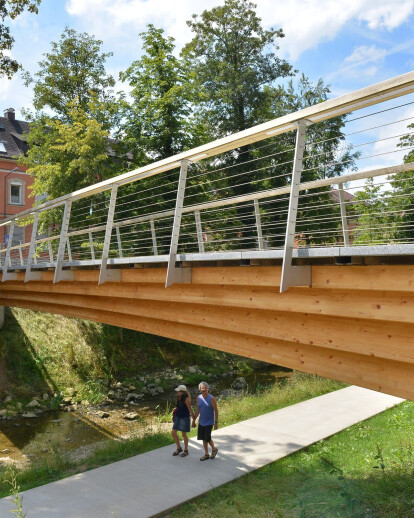 Timber-Granite Hybrid Bridge
