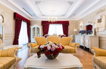 Classical Penthouse interior design, Bucharest