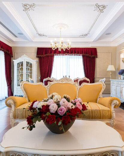 Classical Penthouse interior design, Bucharest
