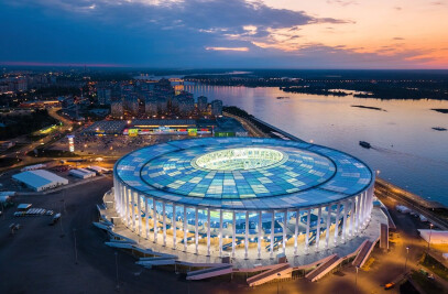 Football stadium for the FIFA 2018 World Cup