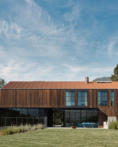 Barn typology and sensitive site orientation inspire this Napa Valley home