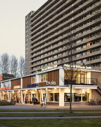 New facade shopping mall Delft