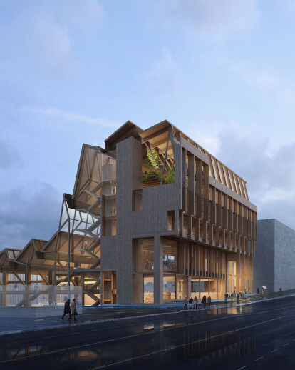 Grafton Architects win their first US commission with a building that tells the story of timber