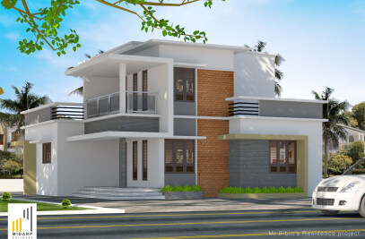 Residence for Mr. Bibin at Naduvattom, Kozhikode
