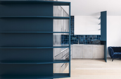 Blue kitchen in Prenzlauerberg