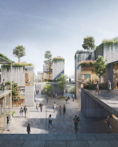 ODA's first project in China is a tiered garden complex that challenges public realm priorities