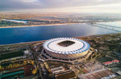 Football stadium for FIFA 2018 in Volgograd