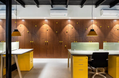 Golden ikon office design