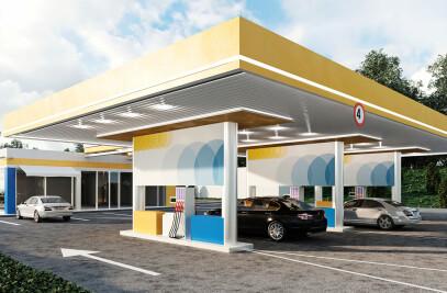 Interior Design for gas stations UMB