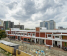 Bird's eye view signifying the impact of the school's built form over its context