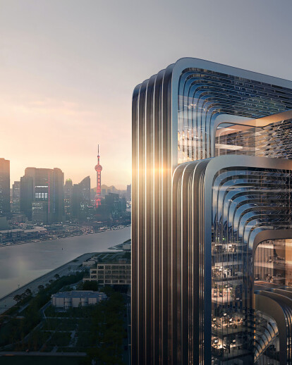 Zaha Hadid Architects wins competition for the China Energy Conservation and Environmental Protection (CECEP) headquarters with greenest building in Shanghai