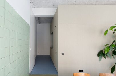 Transformation of a shop into an office space