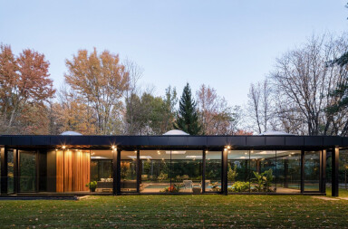 Canadian pavilion influenced by Philip Johnson's iconic Glass House