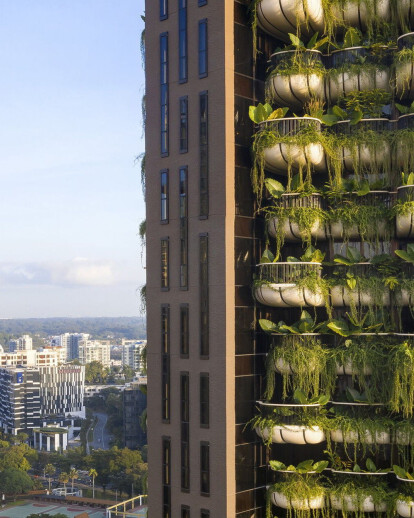 Heatherwick Studio designs tower to become overrun by its lush planting