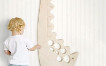 Dino metro da parete per bambini