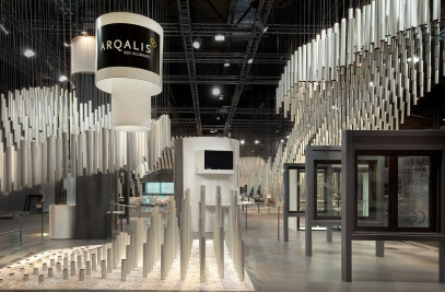 Ephemeral complexity: Alumafel exhibition stand