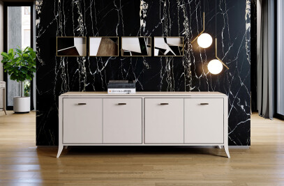 RELIEF 4-DOORS SIDEBOARD