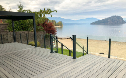 Luxurious glass railings with exceptional design for unobstructed views.