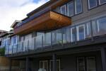 Durarail's clean, contemporary view-through railing option.