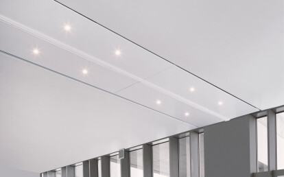 Zenith Premium® folded and retracted into the ceiling pocket