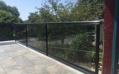 Can be paired with shaded glass inserts for more privacy.