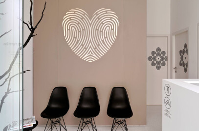 Dermatology clinic interior
