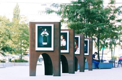 Flexible exhibition system Przystań Sztuki