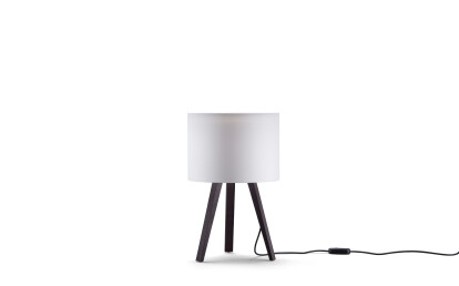 oak, smoked - lamp shade, white