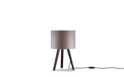 oak, smoked - lamp shade, bronze grey
