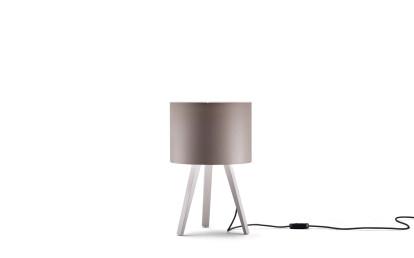 ash, white - lampshade, bronze grey
