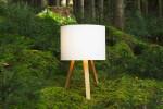 oak, natural finish - lamp shade, white