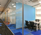 Secluded Meeting Rooms with Glass Partition to maintain openness