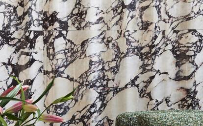 Chiffon marble feature wall