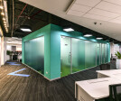 Spacious corridors to maintain free-flow of people in the office