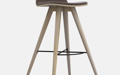 Seed High Stool in Ash and Portuguese SideWalk Dark Brown Cork Upholtery