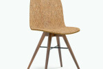 Seed Chair in Walnut and Craft Cork Upholstery