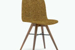 Seed Chair in Walnut and Portuguese SideWalk Brown Cork Upholstery
