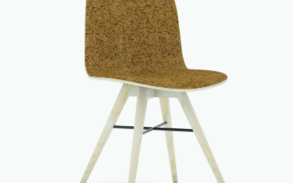 Seed Chair in Ash and Portuguese SideWalk Brown Cork Upholstery
